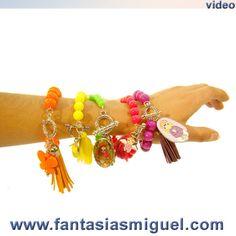 Pulsera De Moda  - Como Hacer Manualidades bracelets....