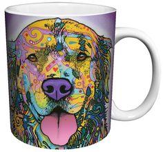 Dean Russo dog-themed coffee mugs.
