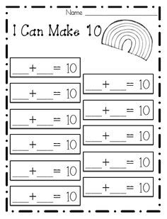 math worksheet : 1000 ideas about making 10 on pinterest  math ten frames and  : Make Math Worksheets