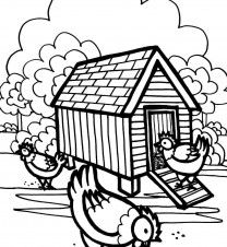 chicken coloring pages for preschoolers - photo#32