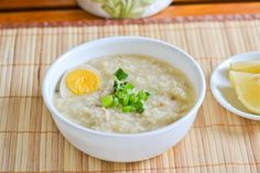 Arroz Caldo is a Filipino style congee recipe in which rice and chicken are boiled in a large amount of water until the rice softens significantly.