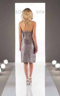 8833 Sequin Bridesmaid Dress Sweetheart Neckline by Sorella Vita