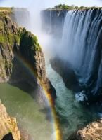 Victoria Falls is, without a doubt, one of the most spectacular waterfalls in the world. Victoria Falls is located on the Zambezi River, on the border between Places Around The World, Oh The Places You'll Go, Places To Travel, Places To Visit, Travel Destinations, Africa Destinations, Beautiful Waterfalls, Beautiful Landscapes, Famous Waterfalls