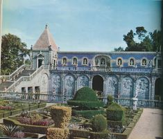 The gardens of the Palace of the Marquis and Marchioness of Fronteira, a wonder just outside Lisbon, in Portugal