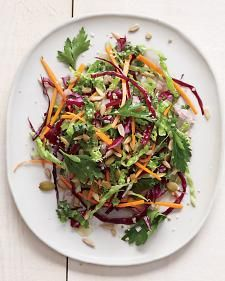 Kale Slaw with Red Cabbage and Carrots