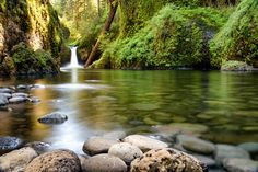 Punchbowl - Every trail in the Columbia River Gorge leads to a stunning waterfall like this. Punchbowl Falls   Columbia River Gorge   Oregon.   I welcome you to explore more of my work at www.joshualumsden.com.
