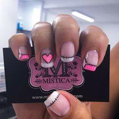 Cute Nail Art, Beautiful Nail Art, Cute Nails, Pretty Nails, Fingernail Designs, Bride Nails, Birthday Nails, Pedicure, Nail Colors