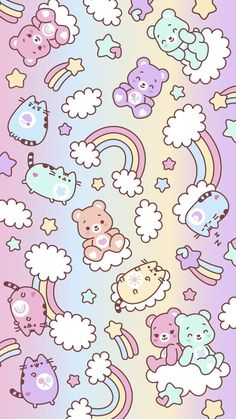 Iphone Wallpaper Kawaii, Unicorn Wallpaper Cute, Unicornios Wallpaper, Cute Pastel Wallpaper, Cute Wallpaper For Phone, Handy Wallpaper, Sanrio Wallpaper, Hello Kitty Wallpaper, Wallpaper Ideas