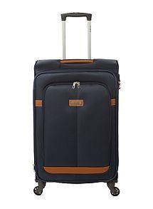 View product Samsonite Caphir navy 4 wheel soft medium suitcase