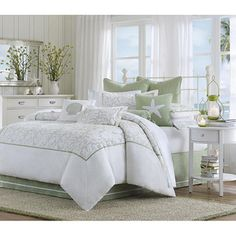 @Overstock - Harbor House Brisbane 4-piece Comforter Set - Lay back and relax with this Brisbane comforter set. This beautiful bedding collection showcases an abstract leaf pattern embroidered on cotton and framed with flat piping.  http://www.overstock.com/Bedding-Bath/Harbor-House-Brisbane-4-piece-Comforter-Set/5686691/product.html?CID=214117 $143.99