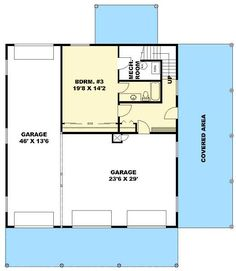garage plans Three Bedroom Carriage House or Mountain Home - Log Home Plans, Barn Plans, New House Plans, Small House Plans, Garage Apartment Plans, Garage Apartments, Apartment Layout, Garage Floor Plans, House Floor Plans