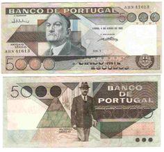 Notas de Portugal e Estrangeiro World Paper Money and Banknotes: Portugal Nostalgia, Money Notes, Rare Coins, Portuguese, Childhood Memories, Stamp, History, Country, Amazing Cars