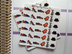 36 Wardrobe Accessory Stickers Kit (Shoes, Ties, Hats, gloves) by PimpMyPlannerCo on Etsy