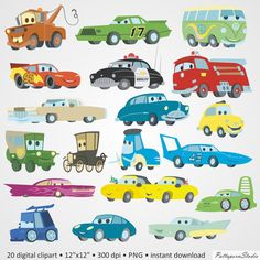 Digital Clipart Cars Party Disney funny png