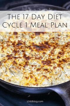 17 Day Diet Cycle 1 Meal Plan
