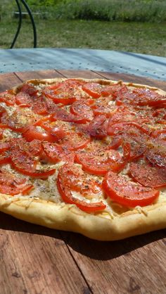"Tomato tart with recipe, from ""French-Word-A-Day""."