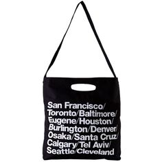 American Apparel Bull Denim Woven Cotton Cities Bag with Strap - Black... ❤ liked on Polyvore featuring bags, handbags, shoulder bags, fillers, accessories, black, american apparel, shoulder strap handbags, denim handbags and cotton purse