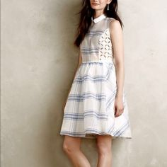 Anthropologie Seapane dress Never worn, beautiful summer dress with eyelet inlay. Size 10 Anthropologie Dresses Wedding