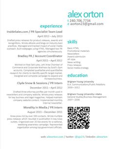 1000 ideas about marketing resume on pinterest resume