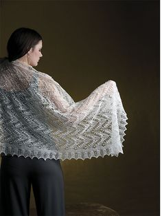 Ravelry: Queen Silvia Shawl pattern by Nancy Bush (haapsalu shawls and scarfs)
