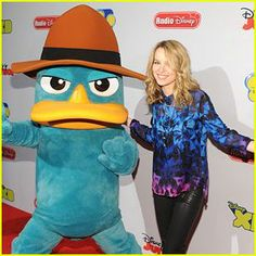 Bridgit Mendler with perry the platypus