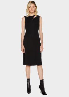 Versace Panel Sleeveless Cady Dress for Women   Official Website