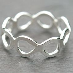Infinity Times Four Ring Size 6 Eternity Jewelry by Maggie McMane Designs, $58.00