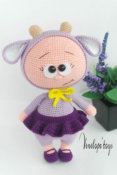 Doll With Lamb Costume Stuffed Toy by VenelopaTOYS on Etsy