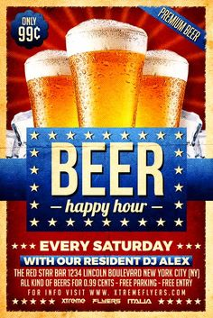 Beer Promotion Flyer Template