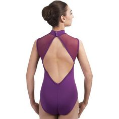 Velkost L, Inspired by royalty and certainly fit for a queen, the BLANCHE leotard features elegant diamond shapes in the form of a mesh panel in the front and a deep cutout...