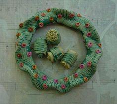 Polymer Clay Bangle Bracelet Betty Jo Hendershott