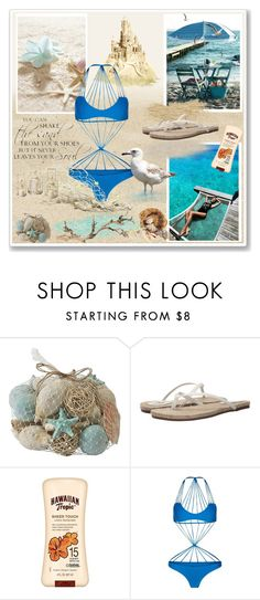 """""""Beach Time"""" by sasane ❤ liked on Polyvore featuring Pier 1 Imports, Yosi Samra, Banana Boat and Mikoh"""