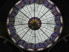 Berlin, Stained Glass Dome in Hotel Adlon   © Marsha K. Russell