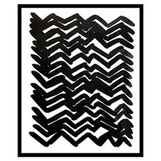 Featuring an abstract design inspired by herringbone weaves, this stylish framed print makes a modern focal point for your gallery wall.