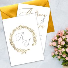 Invitatie-Monogram-wreath2 Monogram Wreath, Wreaths, Bouquet, Floral Arrangements