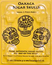 Small 3D sugar skull mold from Mexico. An authentic Day of the Dead product from MacabreMercantile.com