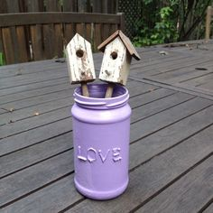 How to make a cute painted jar with a 3D word via @Guidecentral - Visit www.guidecentr.al for more #DIY #tutorials