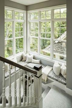 Hjørnetrappe + vinduerne