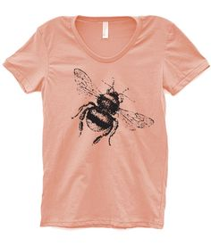 Womens BUMBLE BEE Fashion Gift TShirt Gift for Mom by OhSudzGifts, $18.00
