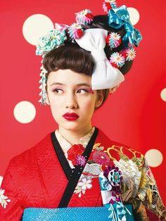 Kimono Japan, Japanese Kimono, Traditional Kimono, Traditional Outfits, Cute Kimonos, Wedding Kimono, Kimono Outfit, Summer Kimono, Japanese Outfits