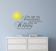You are my Sunshine Wall Decal ** More info could be found at the image url. (Amazon affiliate link)