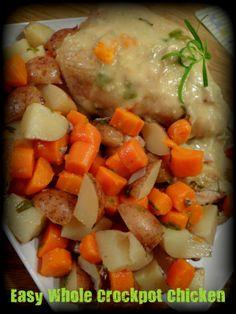 Easy Crock Pot Chicken    http://oneorganicmama.blogspot.com/2013/01/easy-crock-pot-chicken.html