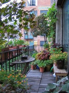 Michelle - Blog #Balcony #Garden Fonte : http://www.apartmenttherapy.com/how-to-make-the-most-of-your-seriously-small-apartment-balcony-217277?crlt.pid=camp.YjWa4NiltJ7V