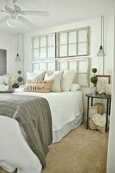 If you like farmhouse bedroom, you will not ever be sorry. If you decide on farmhouse bedroom, you won't ever be sorry. If you go for farmhouse bedroom, you're never likely to be sorry. When you're searching for farmhouse bedroom… Continue Reading → Comfy Bedroom, White Bedroom, Brown Carpet Bedroom, Serene Bedroom, Bedroom Neutral, Neutral Bedding, Bedroom Colors, Beautiful Bedrooms, Modern Farmhouse Bedroom