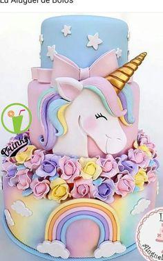 48 Ideas For Birthday Party Cake Unicorn Mini Cakes, Cupcake Cakes, Bolo Fake Eva, Rodjendanske Torte, Unicorn Foods, Unicorn Cakes, Unicorn Rainbow Cake, Pinterest Cake, Unicorn Birthday Parties