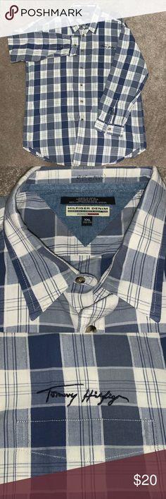 fef0b4ae VTG Hilfiger Denim Button Front L/S Shirt. XXL Vintage Tommy Hilfiger  Hilfiger Denim