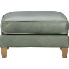Eiffel Leather Ottoman in Ottomans, Cubes   Crate and Barrel