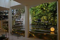 Garden: Outstanding Patrick Blanc Interior Vertical Garden And Aquarium Workspace Wall Plants And Bookshelf Ideas, Astonishing Vertical Gardens to Get Garden Design Inspirations From ~ Best Garden