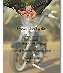 Biker Love save the date cards