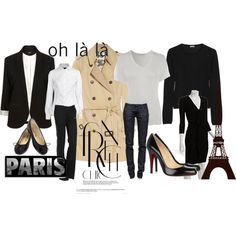 """Top 10 Essential Items for a ""French"" Wardrobe"" by cdngirl2323 on Polyvore"
